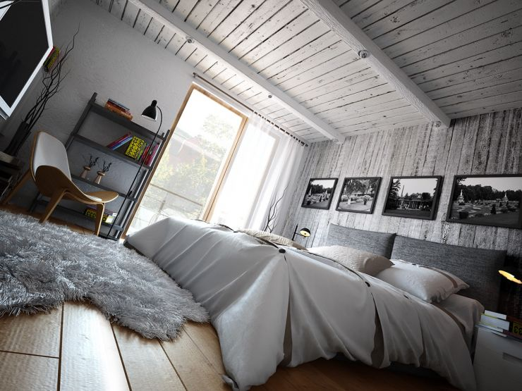 The bedroom in the loft