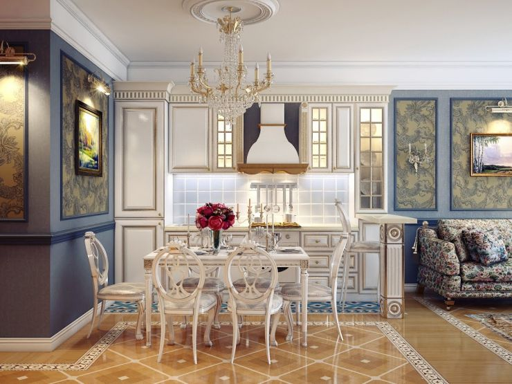 1-classic-style-kitchen-dining-room-design