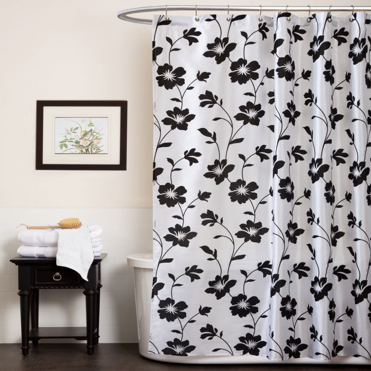 black-and-white-shower-curtains