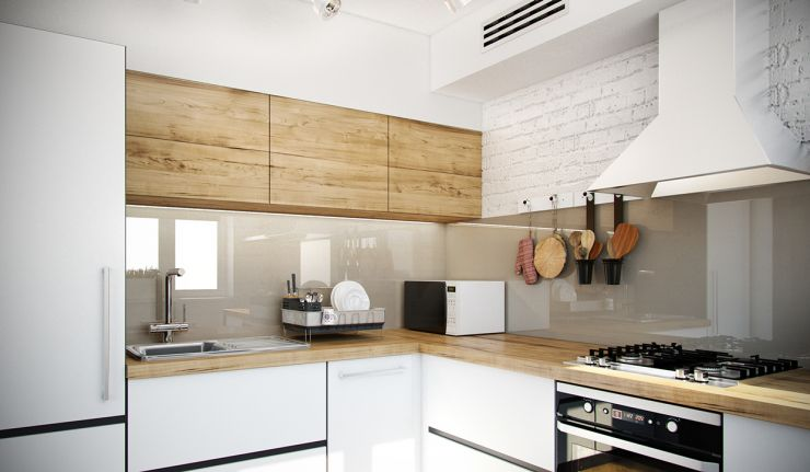 butcher-block-countertop-white-stained-chimney-kitchen-appliance