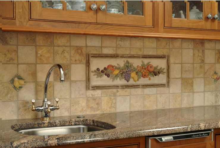 Ceramic tiles for kitchens