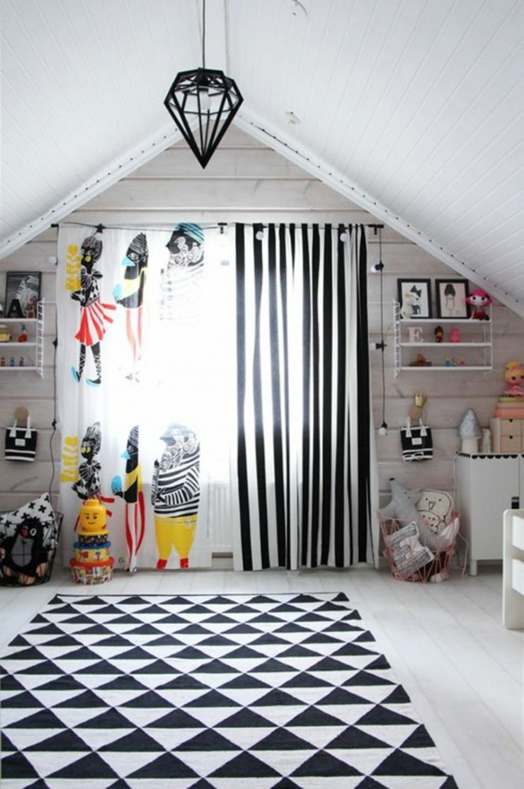 kids-curtains-nursery-fashion-curtains-and-wallpaper-pattern-black-white-stripes
