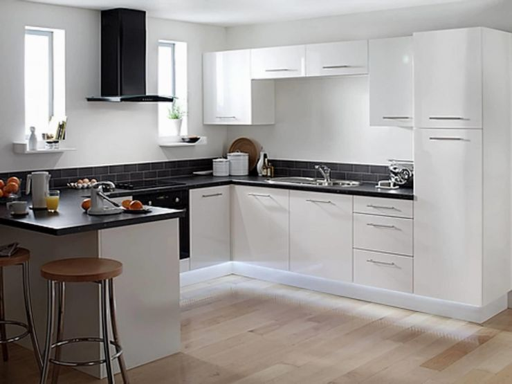 Kitchen Design White Cabinets Black Appliances