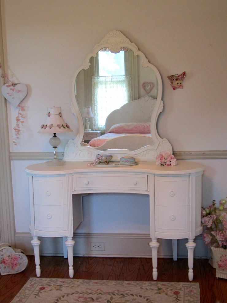 mid-century-furniture-bedroom-vanity-ideas-with-engaging-antique-white-wooden-curved-dressing-table-using-convex-mirror-frames-and-available-double-panel-doors-storage-plus-turned-legs-1120x1493