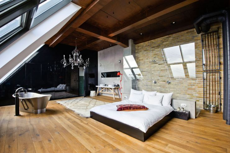 natural-nice-simple-design-of-the-loft-home-designs-that-has-wooden-floor-can-be-decor-with-white-bed-can-add-the-natural-modern-nuance-inside-the-bedroom
