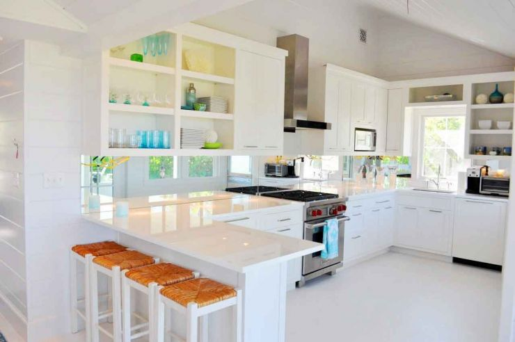 pleasurable-kitchen-design-applying-white-kitchen-furniture-sets-such-kitchen-cabinet-also-breakfast-table-and-stools