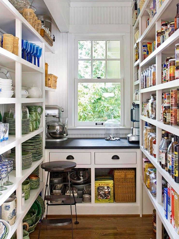 white-open-pantry-shelving