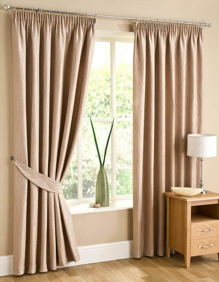 Beige curtains (2)