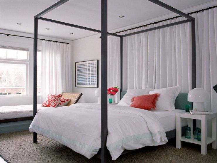 cool-gray-canopy-bed-design-idea-wood-canopy-beds